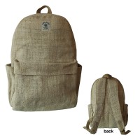 Hemp backpack with laptop compartment
