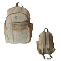 Patch pocket hemp cotton backpack