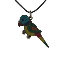 Parrot colorful pendent