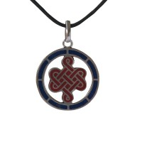 Endless knot circle pendent