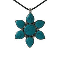 Turquoise flower pendent