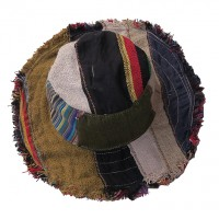 Mixed fabric patch-work hat