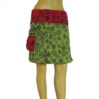 Flower printed reversible skirt