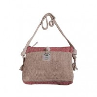 Detachable strap hemp cross body bag