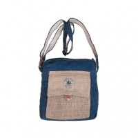 Hemp simple blue shoulder bag