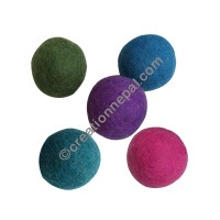 Colorful dryer balls (packet of 5)