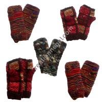 Assorted hand knitted mitten