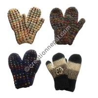 Assorted crochet mitten