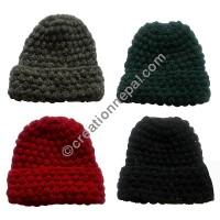 Plain assorted woolen cap