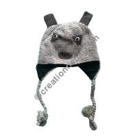 Animal design woolen ear hat