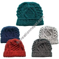 Cable design woolen cap6
