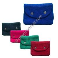 Flap design felt purse