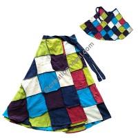Tile design patch open wrapper skirt1