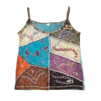 Embroidered rib tank top