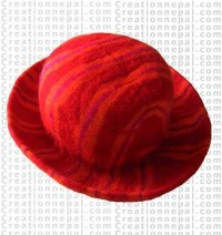 Felt stripe hat 8