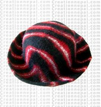 Felt stripe hat 12