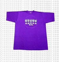 5 Yaks embroidered t-shirt