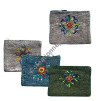 Embroidered coin purse (packet of 5)
