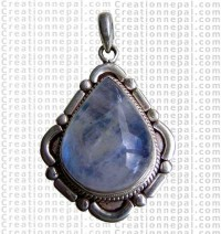 Rainbow moon stone pendant