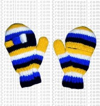 Woolen cover gloves
