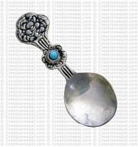 White metal Tibetan spoon