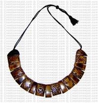 8 auspicious sign bone necklace