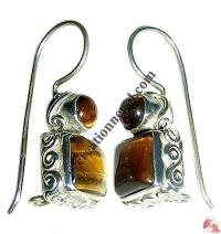2-stone silver earring