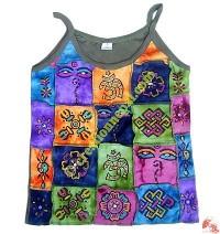 Multi color multi print rib t-shirt