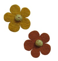 Assorted felt flower (pakcet of 10)