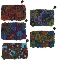 Assorted color felt purse2