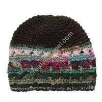 7672c3dc332de Quick View · Wool and silk stripes green cap