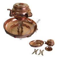 Butter lamps and pooja accessories