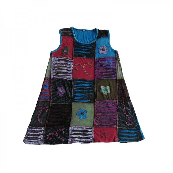 Creation Nepal Razor Cut Square Patches Dress Handicrafts Clothing