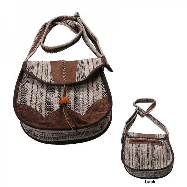 51210c40ca7c Creation Nepal Leather piping hemp-cotton ladies bag Handicrafts Clothing