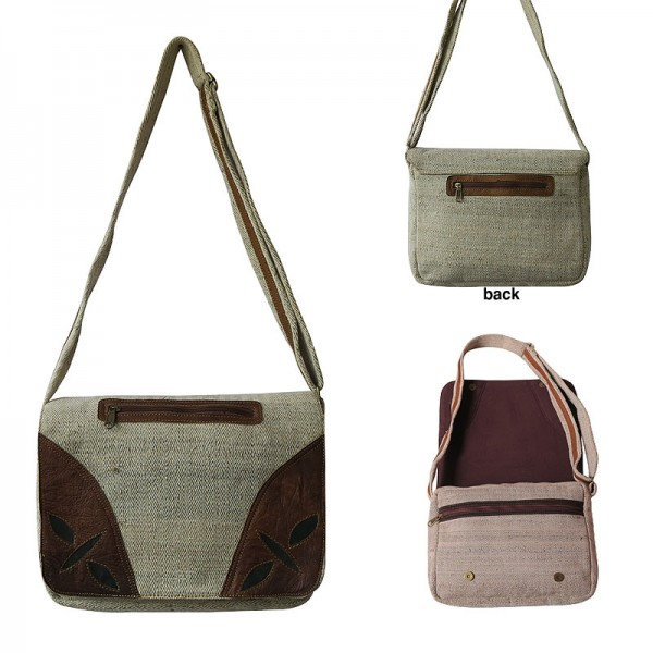 10714abbdd40 Creation Nepal Leather joined hemp office bag Handicrafts Clothing ...