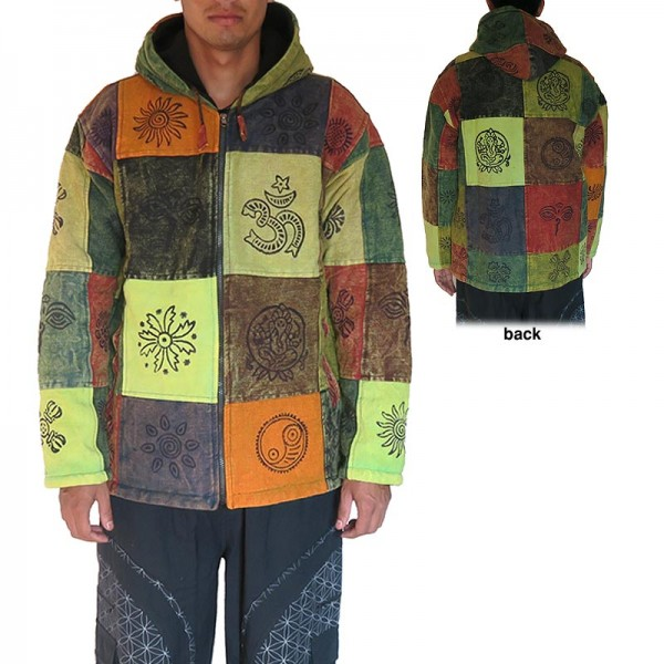 Fair Trade Mens Heavy Cotton Polar Lined Gheri Jumper Hooded Top from Nepal