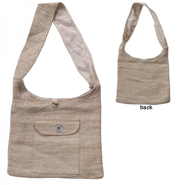 Creation Nepal Plain Natural Color Hemp Bag Handicrafts Clothing Dharma Ware Jewelry Fair Trade Accessories Suppliers