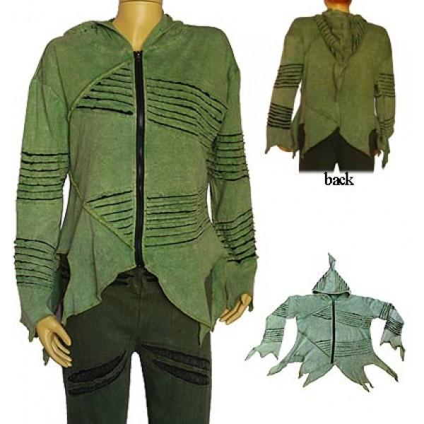 Creation Nepal Green Rib Jacket Handicrafts Clothing Dharma Ware